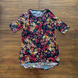 LuLaRoe Irma Floral Print Top Small NWOT